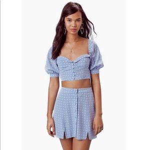 for Love & Lemons Set Sweetheart Crop Top & Skirt